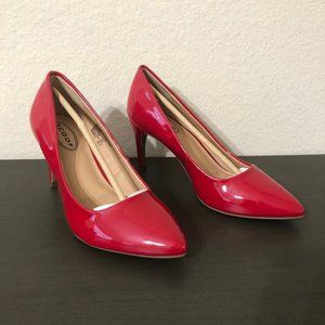 Scoop Red Patent Leather High Heels